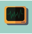 Pulse monitoring flat icon vector image