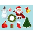 sticker Christmas set vector image