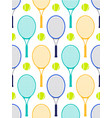 tennis rackets and balls vector image