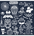vintage Halloween set of icons vector image