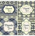 Set of vintage thank you cards with knitted vector image vector image