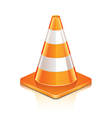 object road cone vector image