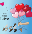 Love Is for giving Valentine concept vector image