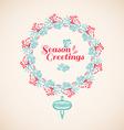 Christmas wreath drawn vector image