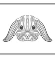 Rabbit coloring outlines in boho style Ethnic hare vector image