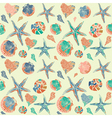 Seashells Pattern Background vector image