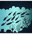 Under the sea vector image vector image