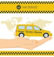 banner taxi service vector image