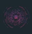 Crypto currency concept vector image