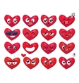 Heart Smiles set of characters cute vector image