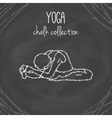 yoga poses Chalk on vector image