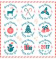 christmas banners 2017 vector image