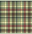 green tartan check plaid seamless pattern vector image