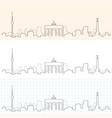 berlin hand drawn skyline vector image
