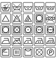 Set of laundry care symbols vector image vector image