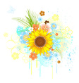 summer sunflower vector image vector image