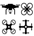 Drone and UAV designs vector image vector image