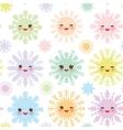 Christmas design seamless pattern Kawaii vector image