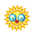 Summer Sun Face with sunglasses and full lips vector image vector image
