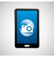 smartphone camera social network media icon vector image