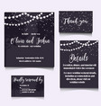 wedding invitation template design vector image