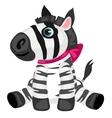 cartoon Zebra toy isolated animals vector image