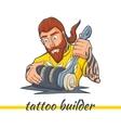 Tattoo Machine Building vector image