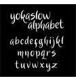 yokaslow alphabet typography vector image