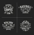 Baseball team emblems vector image