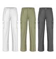 Men work trousers vector image