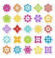 flower stickers vector image