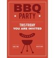 BBQ Party Invite Poster of Invitation Card with vector image
