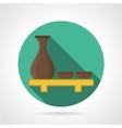 Flat color sake set icon vector image