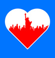 i love New York template vector image