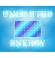 Unlimited solar energy vector image