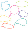 Stitched speech bubbles vector image vector image