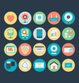 Networking Colored Icons 5 vector image