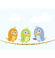 birds on a wire vector image