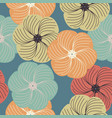 decorative seamless pattern with stylish flowers vector image