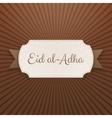 Eid al-Adha Text on paper Tag vector image