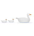 Mom Duck With Babies vector image