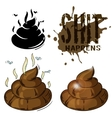 poop in variants vector image