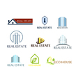 Set of logos real estate eco house Logos in on vector image
