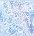 snow seamless pattern winter holiday christmas vector image