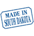 South Dakota - made in blue vintage isolated label vector image