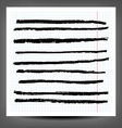 Various set of charcoal lines over vector image