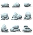 Set of rock art vector image
