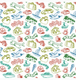 Doodle Travel Seamless Pattern vector image vector image