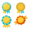 award golden round signs collection elements for vector image