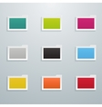 Set of Colored Flat Folders vector image